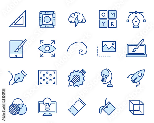 Design und Grafik Vector Icon Illustration Set Canvas