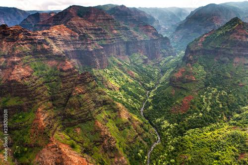 Fotomural Aeial View over the Garden Island Kauai in Hawaii, USA