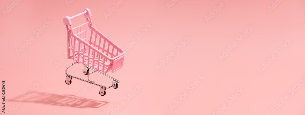 Fototapeta Shopping trolley minimal