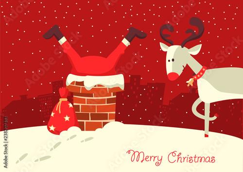 Canvastavla Merry Christmas card