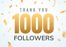 Thank You 1000 Followers Desig...