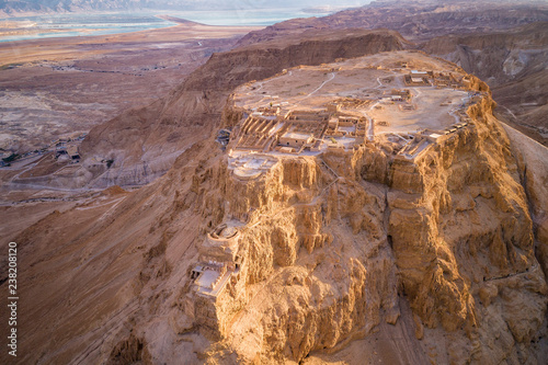 Masada National Park in the Dead Sea region of Israel. Canvas