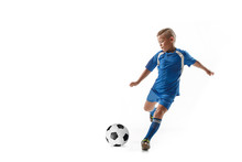Young Boy With Soccer Ball Doi...