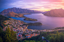 Aerial View Of Queenstown Down...