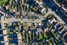 Aerial View Of Homes In A Subu...