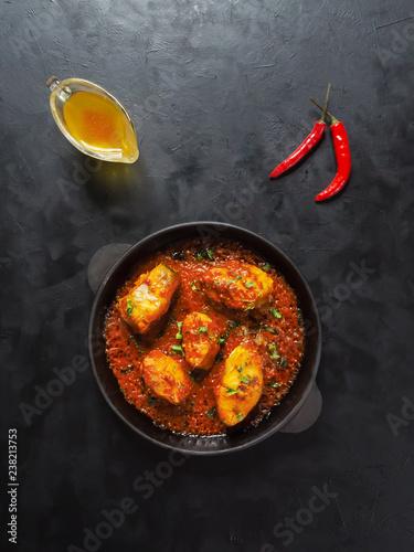 Kerala Bengali fish curry. Popular dish in Indian coastal.