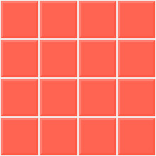 Seamless Tile Pattern Of Coral Color. Ceramic Squares Tile Wall. Vector.