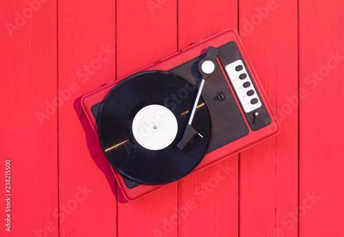 Fotomural turntable, record player, vinyl