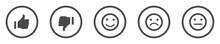 Grey Feedback Icons