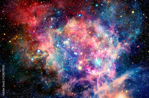 Fotografie, Obraz Abstract Multicolored Smooth Bright Nebula Galaxy Artwork Background