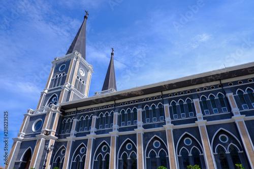 Fotografie, Obraz  The Roman Catholic Maephra Patisonti Niramon Church, This is iconic of built French style at Chanthaburi, Thailand