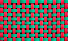 Red And Green Weave Pattern Background
