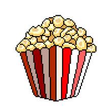 Pixel Popcorn Bucket Detailed Illustration Isolated Vector