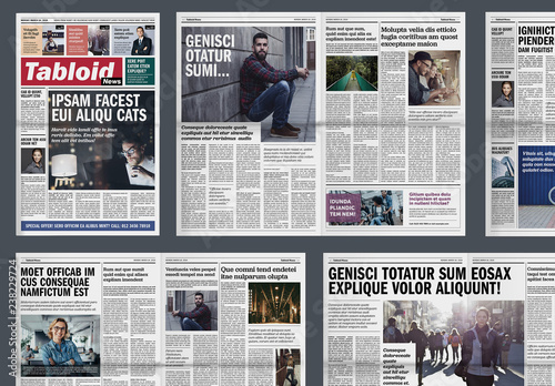 tabloid newspaper layout  kaufen sie diese vorlage und