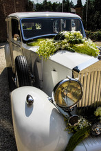 White Old-timer Car Outdoor De...