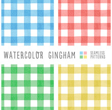 Set Of 4 Color Watercolor Ging...