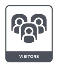 Visitors Icon Vector