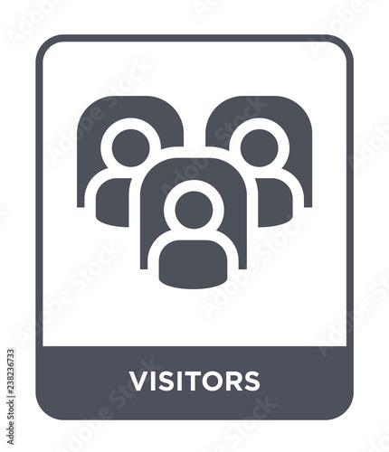 visitors icon vector Fototapeta