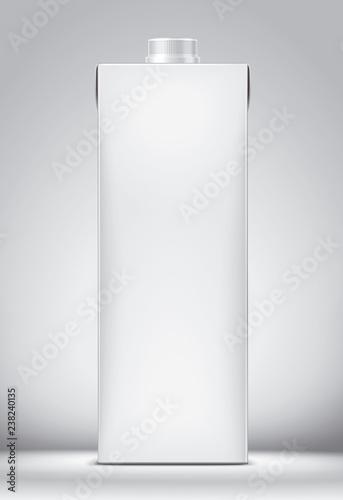 Fotografiet  Mockup for carton packaging drinks.