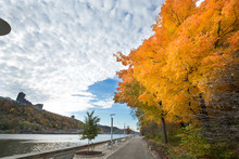 Fall Foliage At Point State Park In Pittsburgh, Pennsylvania.