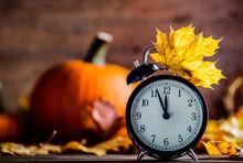 Vintage Alarm Clock And Maple ...