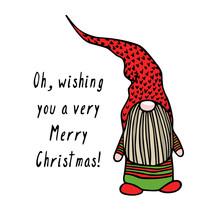 Hand Drawn Christmas Gnome
