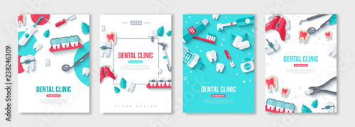 Dentistry posters set Canvas-taulu