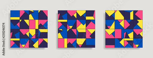 Canvas Print Abstract geometric seamless pattern