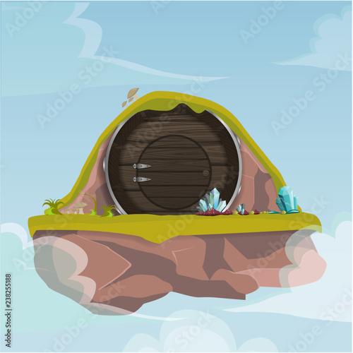 Hobbit house. Canvas Print
