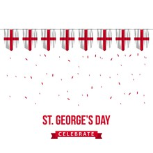 ST George's Day Vector Templat...