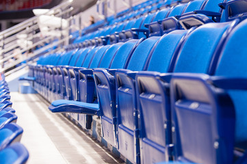 empty seats at the hockey stadium