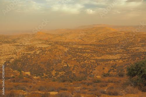 Keuken foto achterwand Rood traf. Wadi Dana Reserve typical landscape. Wadi Dana National Park. Jordan
