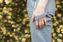 Girl's Hand In Pant Loop