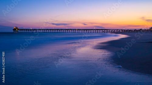Canvas Prints Inspirational message Sunset Pier on Beach