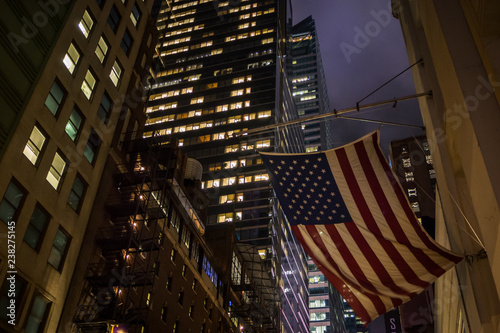 NYC night architecture Canvas Print