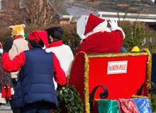 Rear View Of Santa's Parade Sl...