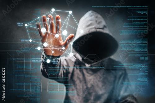 Cyber crime Fototapet