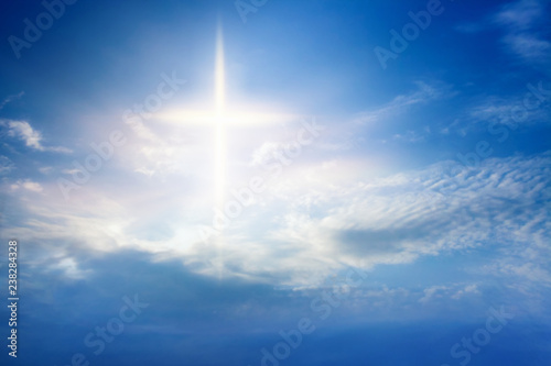 Canvas Print Heavenly Cross