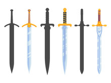 Set Of Knight Swords Isolated ...