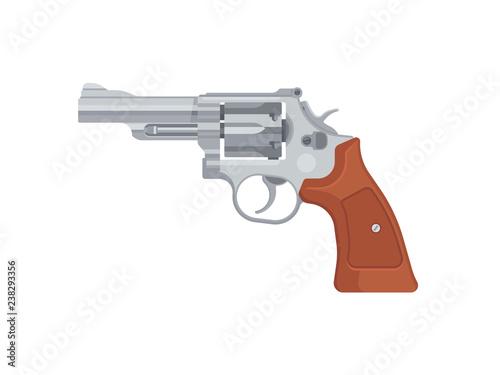 Fototapeta Gun pistol revolver isolated on white background