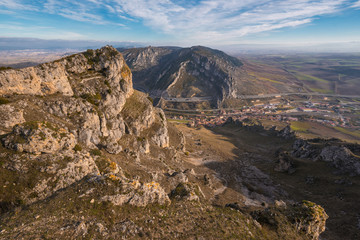 Mountain landscape of Pancorbo gorge in Burgos, Spain.