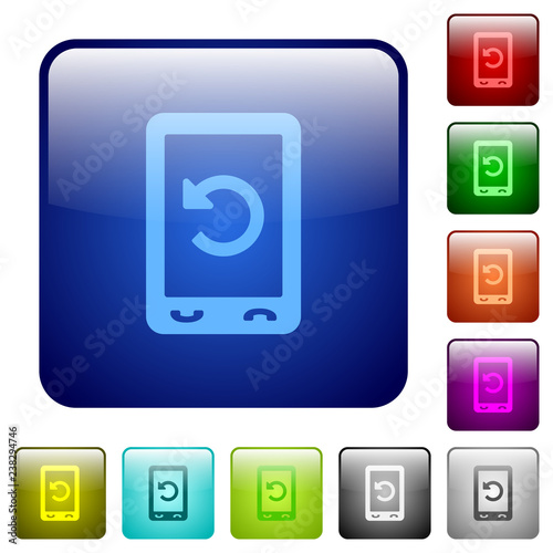 Mobile redial color square buttons Wallpaper Mural