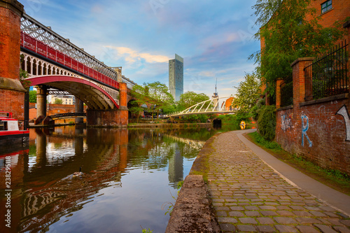 Fotografia Castlefield - inner city conservation area in Manchester, UK
