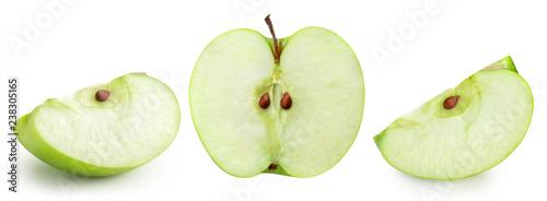 Fotografiet apple fruits with leaf