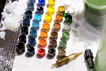 Multi-colored Paint For Tattoo...