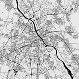 Map of the city of Warsaw, Poland - 238314701