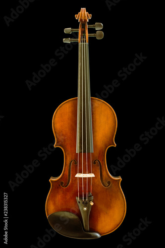 Fototapeta Beautiful vintage violin isolated with clipping path. obraz