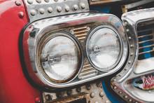 Head Light Of Old Car