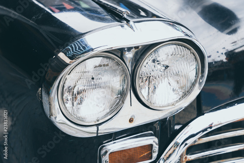 Tuinposter Oude auto s head light of old car