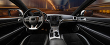 Modern Luxury Car Interior,travel Concept